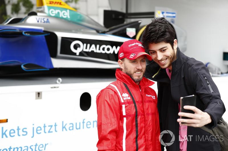 Nick Heidfeld, Mahindra Racing, bei Publicity-Veranstaltung in Berlin