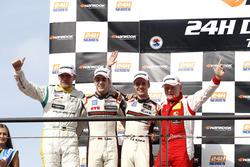 Podium: second place #12 Manthey Racing Porsche 991 GT3 R: Otto Klohs, Sven Müller, Matteo Cairoli, Jochen Krumbach