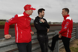 Alex Premat, Trent Cotchin and Scott McLaughlin, DJR Team Penske