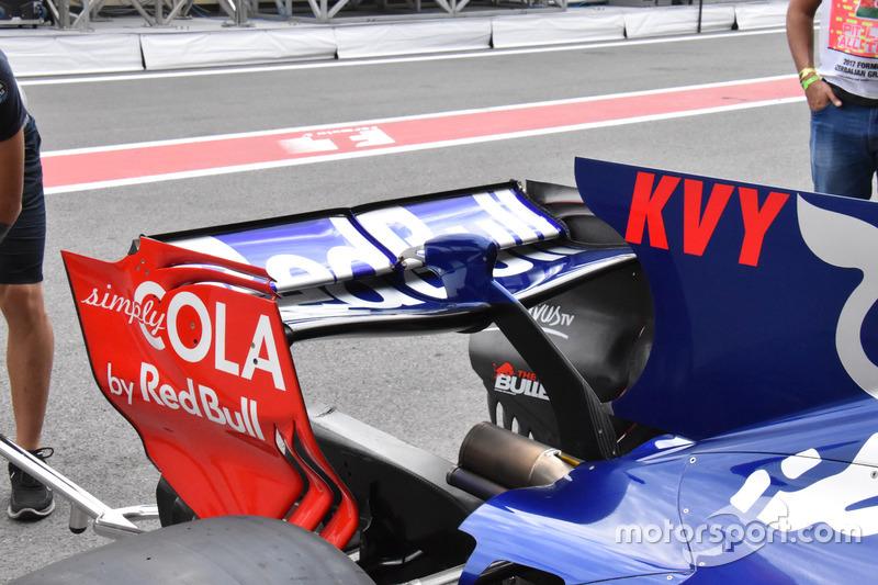 Alerón trasero del Scuderia Toro Rosso STR12