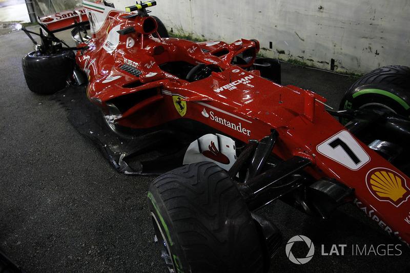 O estado do carro de Kimi Raikkonen