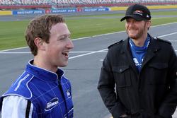 Mark Zuckerberg, Facebook-Boss; Dale Earnhardt Jr., Hendrick Motorsports. Chevrolet