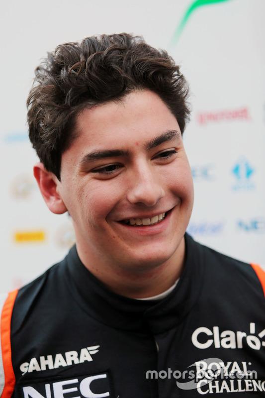 Alfonso Celis Jr., Sahara Force India F1 Development Driver met de media