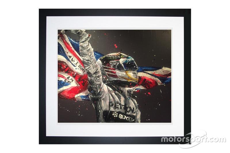 Peinture Lewis Hamilton Champion du monde par Paul Oz