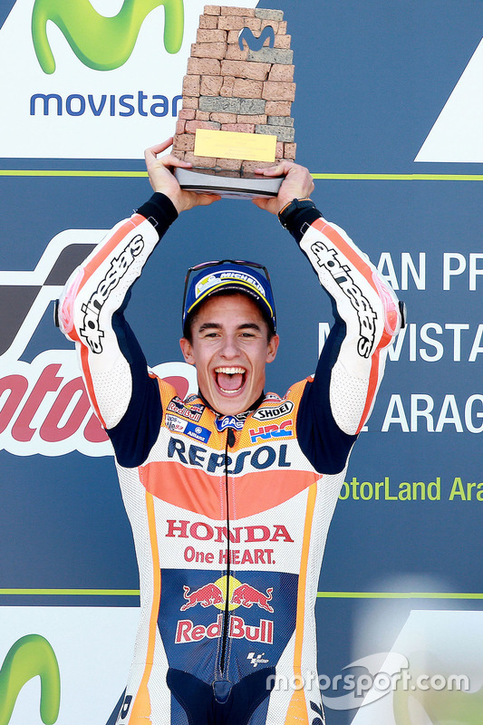 Podium: Sieger Marc Marquez, Repsol Honda Team