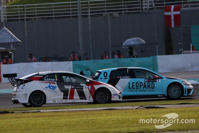 Roberto Colciago, Honda Civic TCR, Target Competition und Stefano Comini, Volkswagen Golf GTI TCR, Leopard Racing