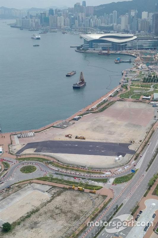 Obra del pitlane del Hong Kong ePrix