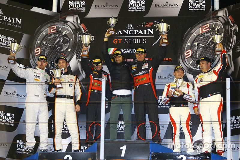 Podio Pro Am: winner Michal Broniszewski Giacomo Piccini, second place Matias Henkola, Maxime Martin, third place Jean-Luc Beaubelique, Morgan Moullin-Traffort