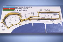 Мапа Гран Прі Азербайджану