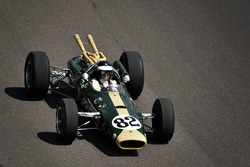 Dario Franchitti driving Colin Chapman designed 1965 Lotus 38, the first mid-engined car to win the