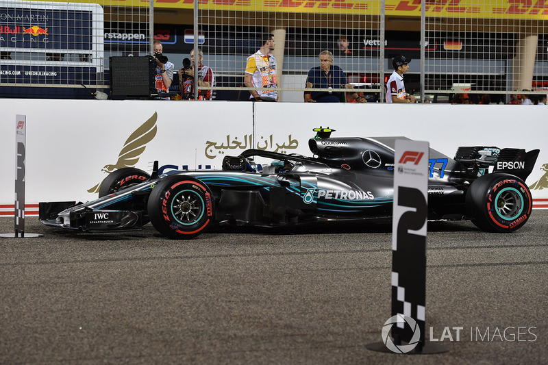 Valtteri Bottas, Mercedes-AMG F1 W09 EQ Power en parc ferme