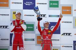 Podium: Race winner Ralf Aron, PREMA Theodore Racing Dallara F317 - Mercedes-Benz, third place Mick Schumacher, PREMA Theodore Racing Dallara F317 - Mercedes-Benz