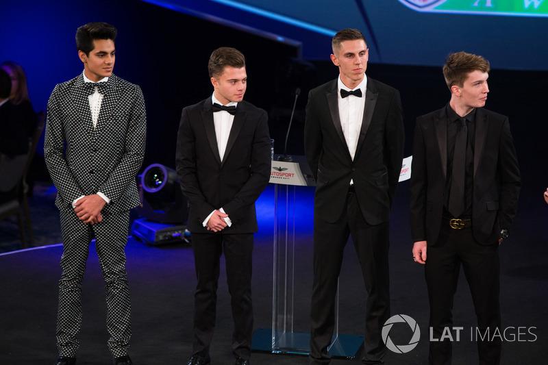 Los nominados a McLaren Autosport BRC Enaam Ahmed, Harrison Scott, Max Fewtrell y Dan Ticktum en el