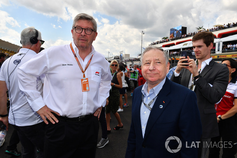 Ross Brawn, Formula One Managing Director of Motorsports and Jean Todt, FIA President on the grid