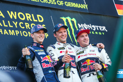 Podyum: Yarış galibi Mattias Ekström, EKS RX Audi S1, 2. Timmy Hansen, Team Peugeot Hansen, 3. Tooma