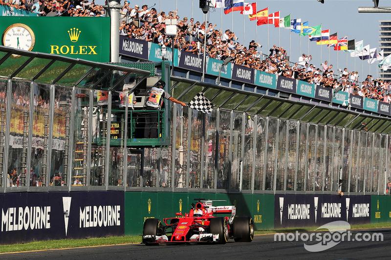 Avustralya GP: Sebastian Vettel, Ferrari SF70H