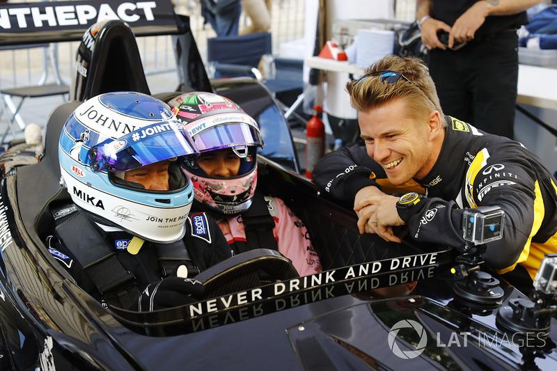 Mika Hakkinen ve Sergio Perez, Force India