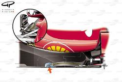 Ferrari SF70H cut in the floor, captioned