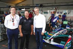 Alejandro Agag, Director CEO DE Fórmula E, Michael Andretti, Jens Marquardt, Director de BMW Motorsport