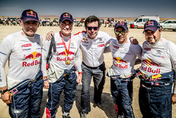 Carlos Sainz, Lucas Cruz, Sébastien Loeb, Daniel Elena, Peugeot Sport, with Bruno Famin
