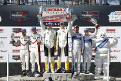 GTLM Podium: second place Kevin Estre, Laurens Vanthoor, Porsche Team, first place Oliver Gavin, Tommy Milner, Corvette Racing, third place Ryan Briscoe, Richard Westbrook, Ford Performance Chip Ganassi Racing
