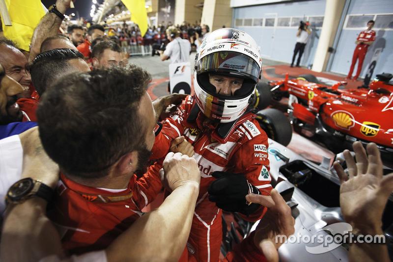 Race winner Sebastian Vettel, Ferrari SF70H