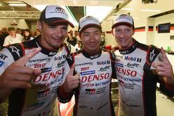 Polesitters #7 Toyota Gazoo Racing Toyota TS050 Hybrid: Mike Conway, Kamui Kobayashi, Stéphane Sarrazin