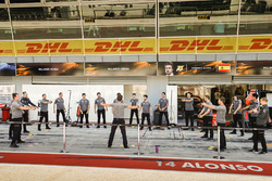McLaren fitness regime in the pit lane