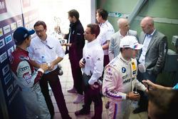 2. Mattias Ekström, Audi Sport Team Abt Sportsline, Audi A5 DTM; 3. Bruno Spengler, BMW Team RBM, BM