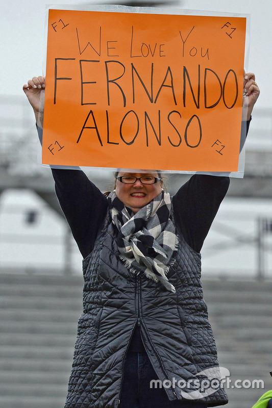 Un fan de Fernando Alonso, Andretti Autosport Honda