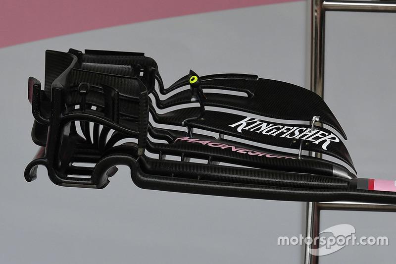 印度力量VJM10赛车前翼细节图
