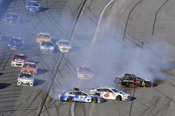 Ricky Stenhouse Jr., Roush Fenway Racing Ford and Trevor Bayne, Roush Fenway Racing Ford wreck