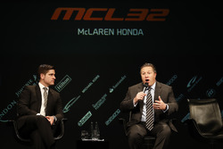 Zak Brown, Executive Director of McLaren Technology Group, is interviewed on stage