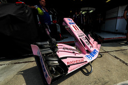The nose and front wing detail of Sergio Perez, Sahara Force India VJM10