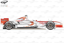Super Aguri SA05 (Arrows A23) 2006 side view