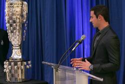 Alexander Rossi Borg Warner trophy unveiling