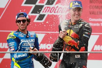 2. Alex Rins, Team Suzuki MotoGP, 3. Pol Espargaro, Red Bull KTM Factory Racing