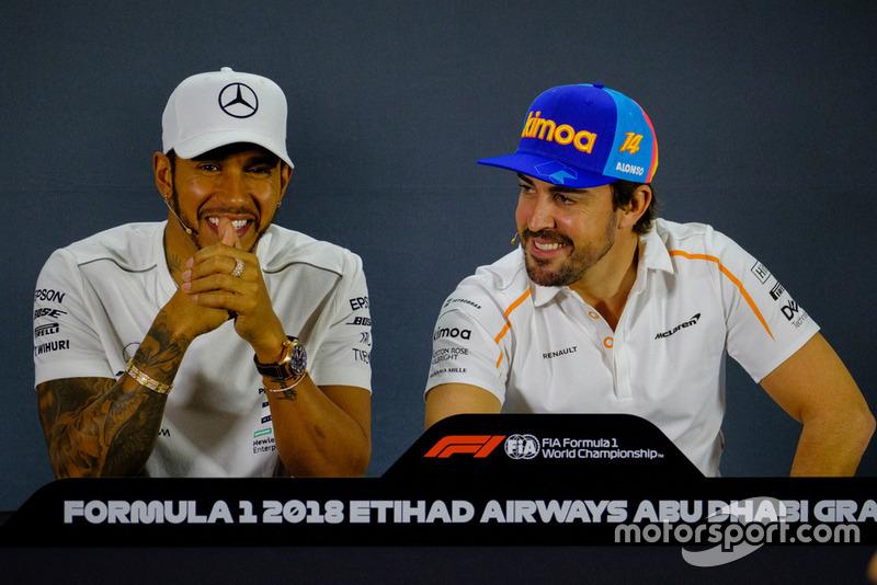 Lewis Hamilton, Mercedes AMG F1, Fernando Alonso, McLaren Renault