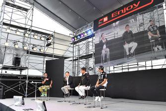 Satoru Nakajimi, Aguri Suzuki et Takuma Sato