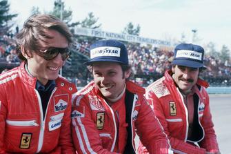 Luca di Montezemolo, Clay Regazzoni, Niki Lauda, Ferrari