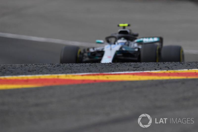 Valtteri Bottas, Mercedes AMG F1 W09 and marbles