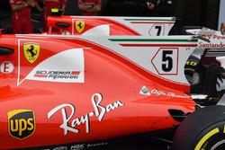 Ferrari SF70H: Motorhauben-Finne