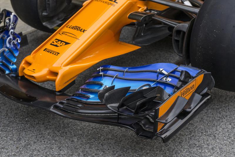 Muso e ala anteriore della McLaren MCL33
