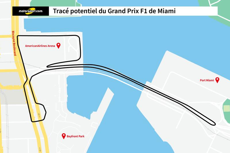 le tracé potentiel du Grand Prix F1 de Miami