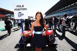 Grid girl of #23 Panis Barthez Competition, Ligier JSP217 - Gibson: Fabien Barthez, Timothé Buret, Nathanael Berthon