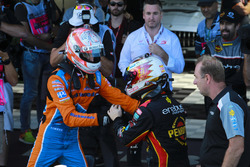 Race winner David Reynolds, Erebus Motorsport Holden, Nick Percat, Brad Jones Racing Holden, celebrate