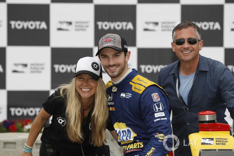 Alexander Rossi, Andretti Autosport Honda avec son amie Liza Markle et son père
