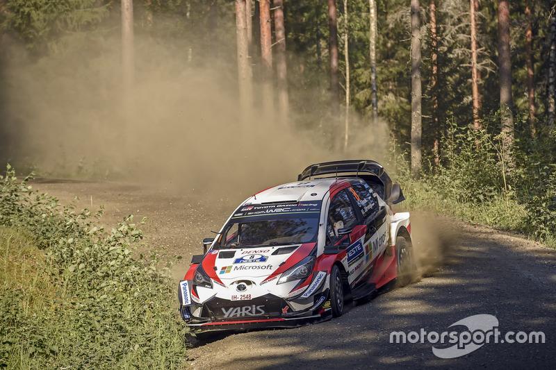 Momento mágico de Michelin: Ott Tanak, Martin Järveoja - Toyota Gazoo Racing - Ganaron tres carreras consecutivas