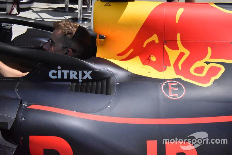Red Bull Racing RB14 bodywork detail
