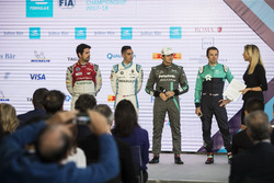 Nelson Piquet Jr., Jaguar Racing in the press conference with Lucas di Grassi, Audi Sport ABT Schaeffler, Sébastien Buemi, Renault e.Dams, Luca Filippi, NIO Formula E Team